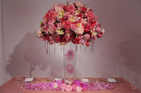how to make tall floral wedding centerpieces