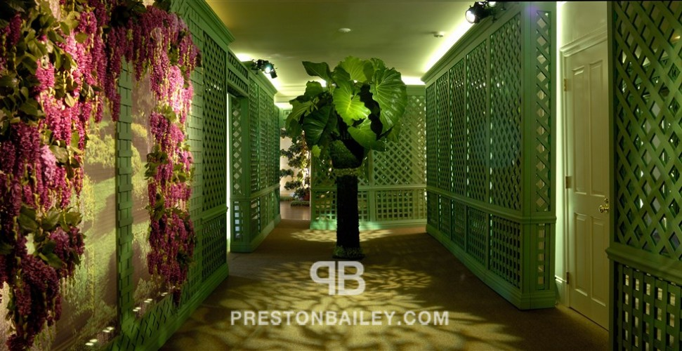 digital screens entertaining entrance entrances & hallways floral floral screen floral sculpture flowers house indoor moss sculpture wall garden wall installation wisteria color|green color|lilac color|pink